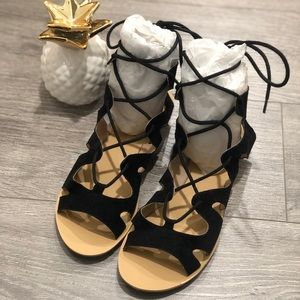 Laced Up Gladiator Sandals